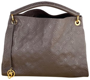 Louis Vuitton Leather Artsy Mm Empreinte Chocolate Lv Hobo Bag