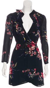 Reformation short dress Black with Floral Print on Tradesy