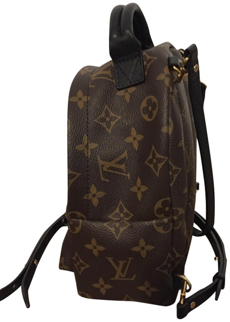Item - Palm Springs Mini Brown with Black Accents Lambskin Leather Backpack