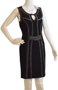 Carmen Marc Valvo New With Tags Studded Jersey Dress