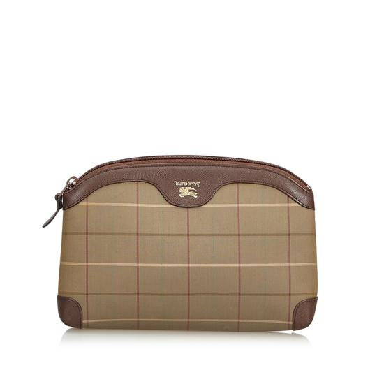 Preload https://img-static.tradesy.com/item/25041941/burberry-plaid-clutch-pouch-brown-canvas-leather-wristlet-0-0-540-540.jpg