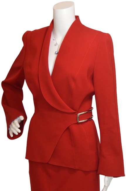 Preload https://img-static.tradesy.com/item/25041971/thierry-mugler-red-vintage-skirt-suit-size-10-m-0-1-650-650.jpg