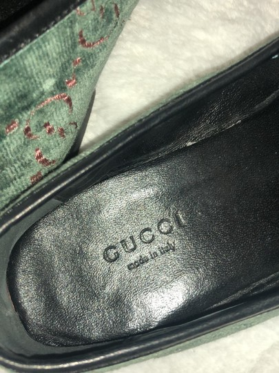 Gucci green, pink, black Flats
