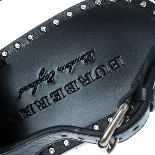 Burberry Leather Detail Blue Flats