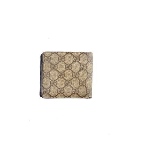 Gucci Supreme GG Monogram Canvas Leather Bifold Wallet Italy