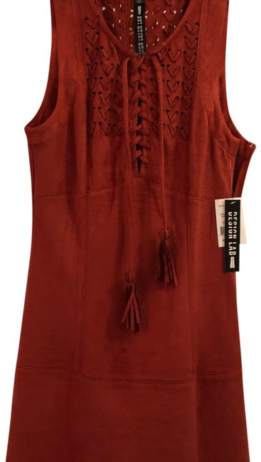 Design lab Rust Suede Like Short Casual Dress Size 4 (S) Design lab Rust Suede Like Short Casual Dress Size 4 (S) Image 1