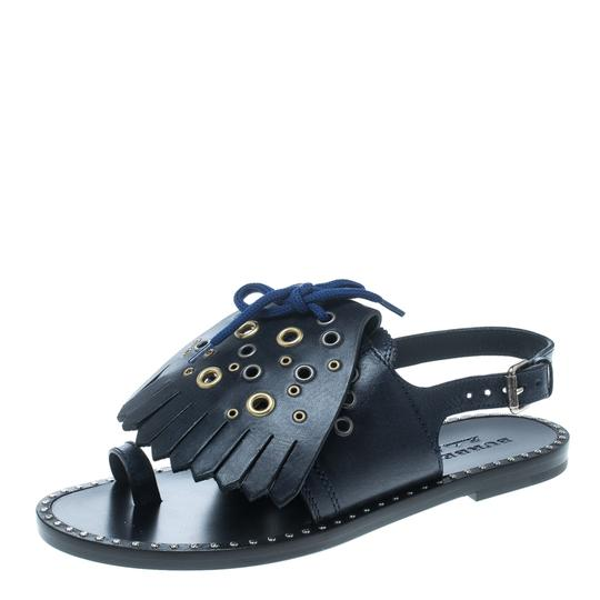 Preload https://img-static.tradesy.com/item/25042034/burberry-blue-navy-leather-kiltie-fringe-eyelet-detail-sandals-flats-size-eu-40-approx-us-10-regular-0-0-540-540.jpg