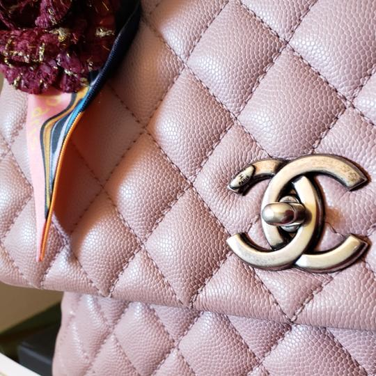 Chanel Caviar Coco Coco Handle Ivory Shoulder Bag