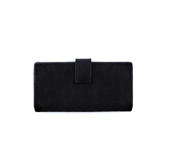 Gucci GG Monogram Canvas Leather Long Clutch Wallet