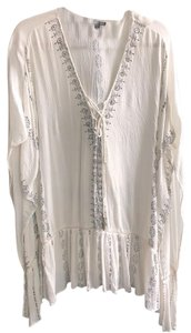 Gianni Bini short dress Off-White with Black Detailing and Gold Embellishment on Tradesy