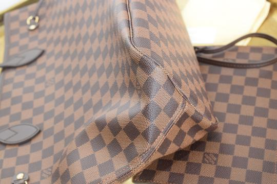Louis Vuitton Lv Neverfull Never Full Mm Pink Ballerine Canvas Tote in Damier Ebene w/cherry textile lining