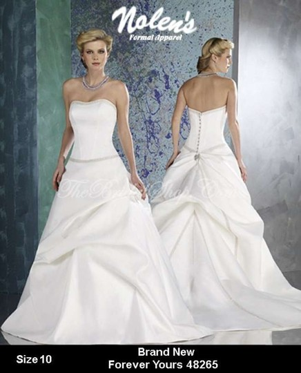 Forever Yours Wedding Gowns: Forever Yours Cafe' Satin New 48265 Formal Wedding Dress