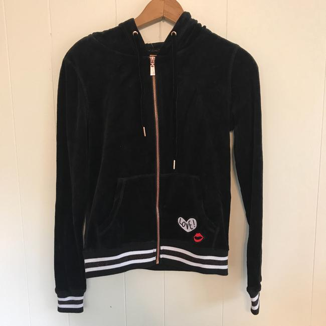 Preload https://img-static.tradesy.com/item/25042212/betsey-johnson-black-white-red-velour-love-zipup-hoodie-activewear-size-2-xs-0-0-650-650.jpg