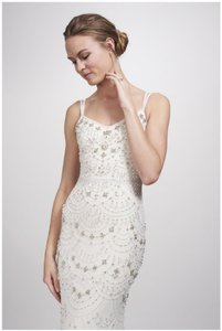 2a6787865f1dc Theia Ivory Sleeveless Deep V-neck with Polo Collar 882827 Modern ...