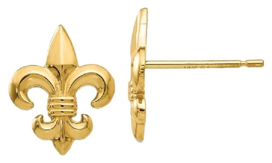 Preload https://img-static.tradesy.com/item/25042343/apples-of-gold-14k-yellow-fleur-de-lis-stud-earrings-0-1-540-540.jpg