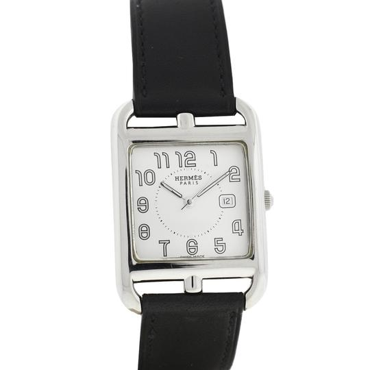 Preload https://img-static.tradesy.com/item/25042361/hermes-black-cape-cod-stainless-steel-and-leather-double-wrap-watch-0-0-540-540.jpg