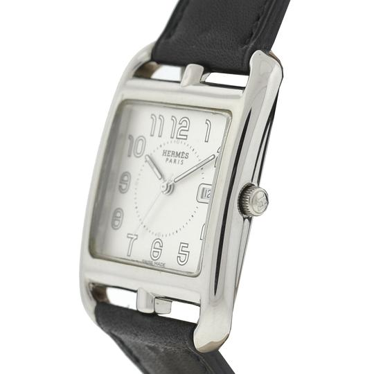 Hermès HERMS Cape Cod Stainless Steel & Leather Double-Wrap Black Watch