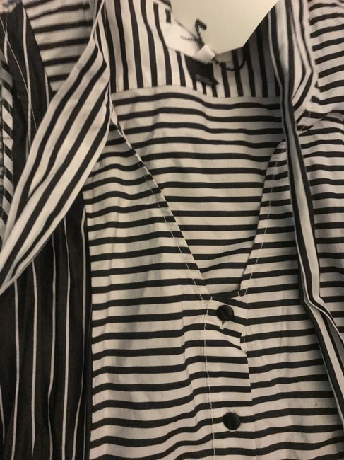 Current/Elliott short dress Black and White Striped Cotton Spring Chic Comfortable on Tradesy