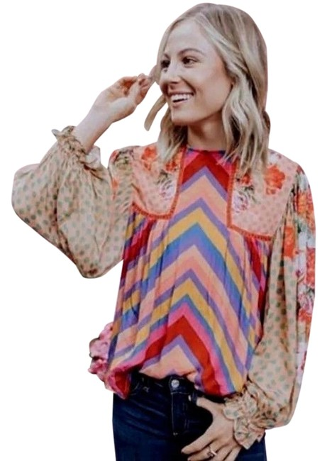 Preload https://img-static.tradesy.com/item/25042473/anthropologie-multicolor-eclectic-peasant-by-bl-nk-blouse-size-2-xs-0-1-650-650.jpg