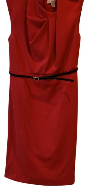 Item - Red Formal Wear Mid-length Short Casual Dress Size 6 (S)