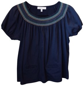 See by Chloé Cotton T Shirt Navy Blue