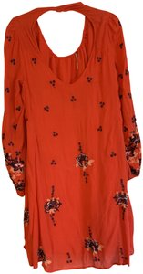 1d09aac91c6a2 Free People short dress Red with floral pattern on Tradesy