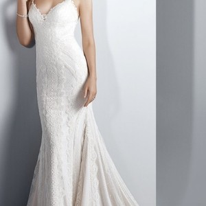 Sottero and Midgley Ivory Over Soft Pearl Narissa Style Sexy Wedding Dress Size 6 (S)