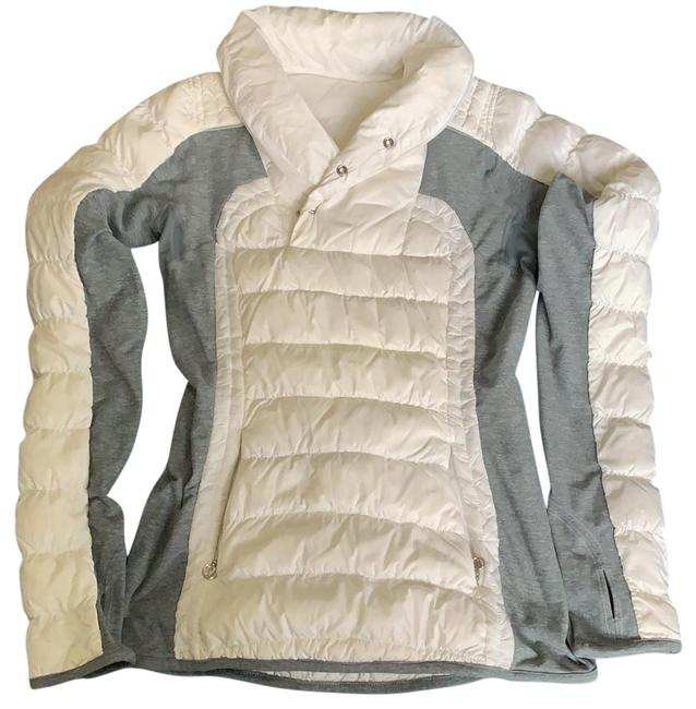 Item - White/Gray Jacket Size 4 (S)