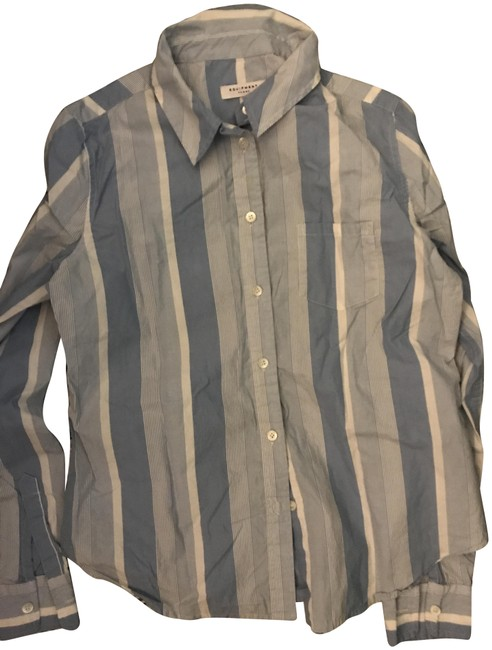 Item - Blue and White Stripe Crisp Button-down Top Size 4 (S)