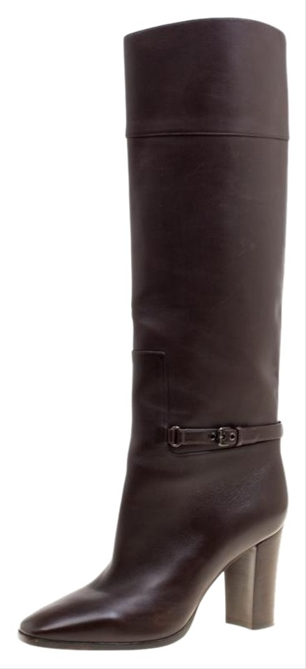 e00e861d3b10 Christian Louboutin Brown Leather Mervillon Knee Boots Booties. Size  EU 38  ...
