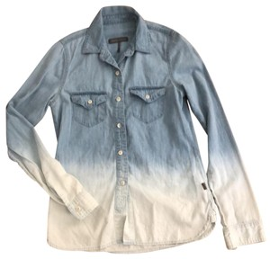 Kendall + Kylie Button Down Shirt Blue