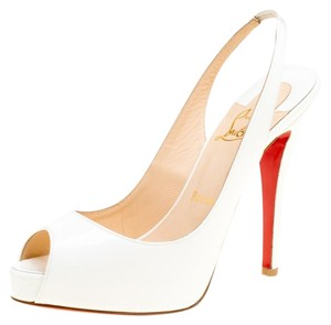 58e51bea5528 White Christian Louboutin Sandals - Up to 90% off at Tradesy