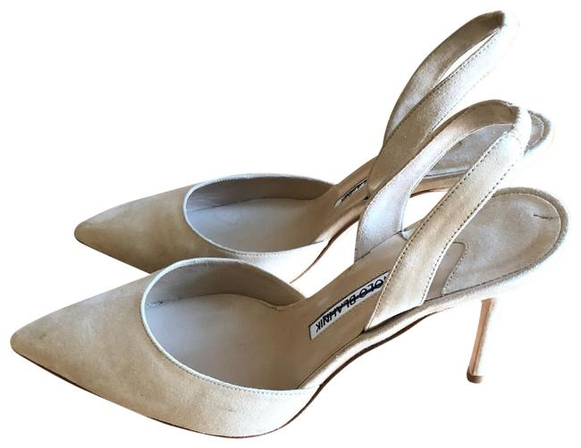 Item - Tan Pumps Size US 7.5 Regular (M, B)