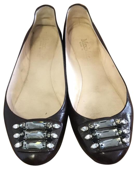 Item - Wine Jeweled Patent Leather Party Flats Size EU 36.5 (Approx. US 6.5) Regular (M, B)
