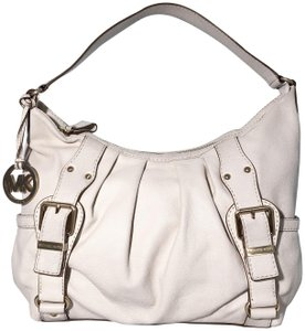 4964b32001ea Michael Kors Leather Pleated Brushed Gold Hobo Bag