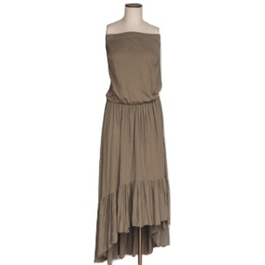8010b4fe287 Olive Maxi Dress by Blue Life Bohemian Boho Off The Shoulder Elastic Drape