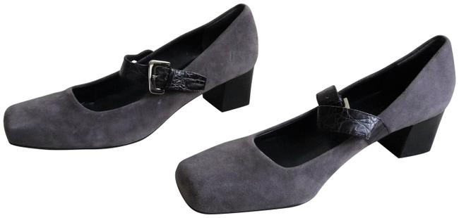 Franco Sarto Grey Mary Jane Pumps Size US 8.5 Regular (M, B) Franco Sarto Grey Mary Jane Pumps Size US 8.5 Regular (M, B) Image 1