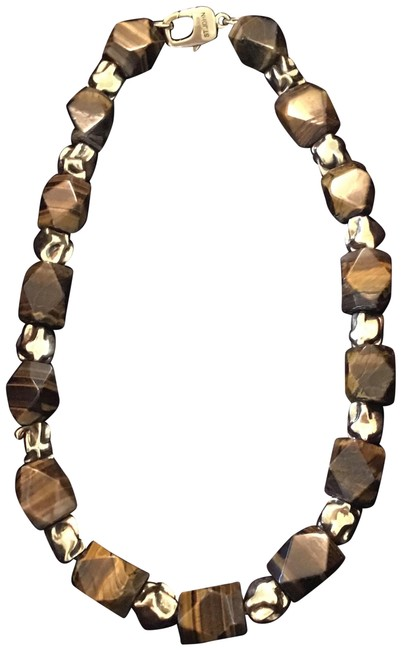 Item - Yellow Tiger Eye Natural Stone Necklace