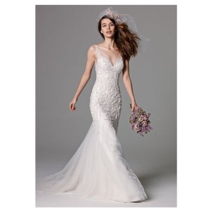 Watters Lexington Mermaid Tulle Gown Formal Wedding Dress Size 8 (M)