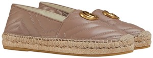 Gucci Marmont Double G Espadrille Gg Espadrille Dusty Pink Flats