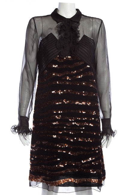Item - Black And Mid-length Night Out Dress Size 10 (M)
