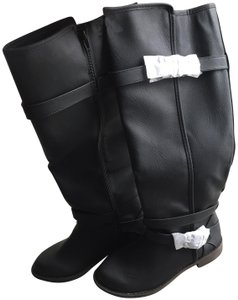 03fc3872cc9 JustFab Classic Casual Faux Leather Riding Fashion Black Boots