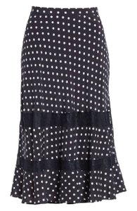 Lewit Lace Polka Dot Skirt Navy