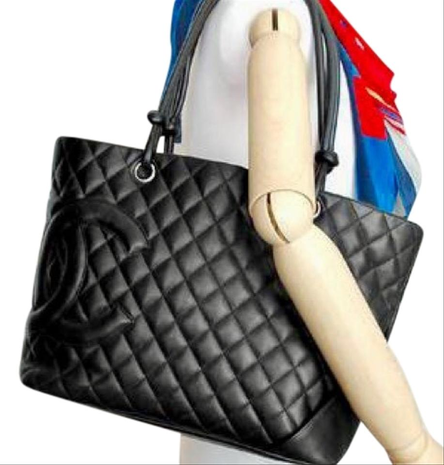 a8f144984 Chanel Cambon Quilted Black Leather Tote - Tradesy
