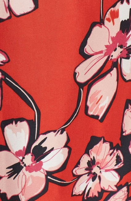 Lewit Silk Floral Print Ruffle Skirt Red Image 4