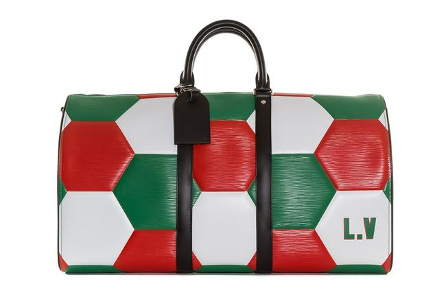 Item - Keepall Limed Fifa World Cup Team Mexico Bandouliere White Black Red Green Leather Weekend/Travel Bag