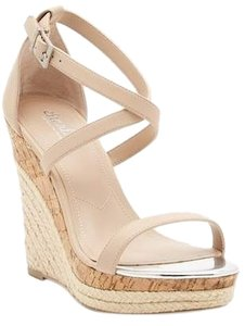 Charles by Charles David Nude Smooth Wedges