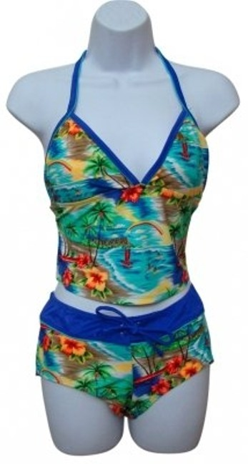 Preload https://item1.tradesy.com/images/multi-color-down-the-shore-2-piece-floral-tropical-tankini-size-8-m-25045-0-0.jpg?width=400&height=650