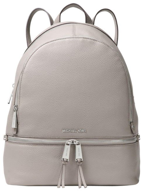 Item - Rhea Zip Medium School Travel(New with Tags) Pearl Grey/Silver Hardware Venus Leather Backpack