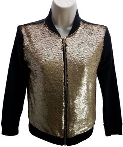 Juicy Couture Fashion Designer Sequined Full Zip Sweater